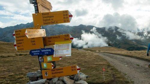 Indicatore di Trail_Panneau SwissPeaks